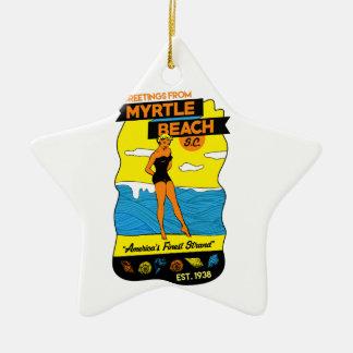 Myrtle Beach vykort Julgransprydnad Keramik