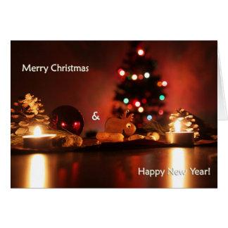 Mysigt glada Holidays/för lyckligt nytt år för Hälsningskort