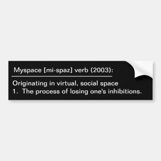 Myspace definition bildekal