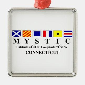 Mystic, CT - Longtitude & frihet Julgransprydnad Metall