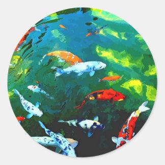 Mystic fisk runt klistermärke