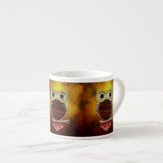 Mystic glödguld & träträduggla espressomugg