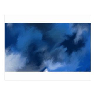 Mystisk abstrakt blue. vykort