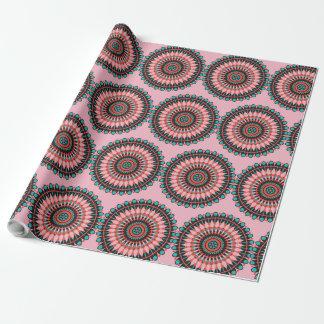 Mystisk gåvasjal för rosa Mandala Presentpapper
