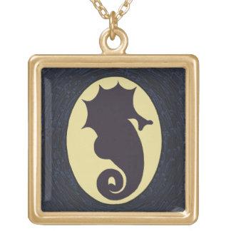 Mystisk Seahorse Guldpläterat Halsband