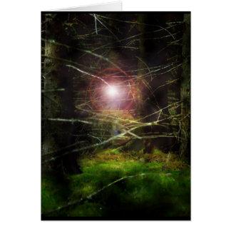 Mystisk skog hälsningskort