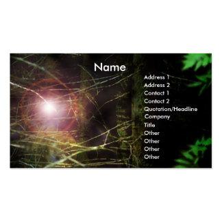 Mystisk skog set av standard visitkort