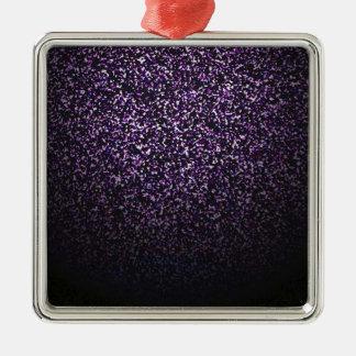 Mystiskt stänk av violeten julgransprydnad metall