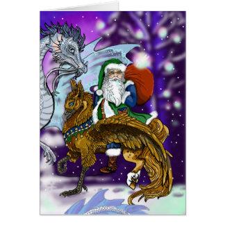 Mythic Santa Hälsningskort