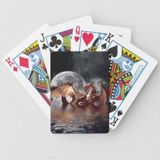 Mytiska leka kort för drake- & månefantasi spelkort