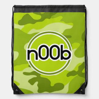 n00b; ljust - grön camo, kamouflage ryggsäck