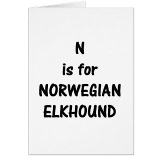 n är norrmannen elkhound.png hälsningskort