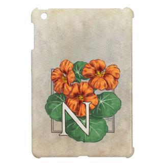 N för NasturtiumblommaMonogram iPad Mini Skal