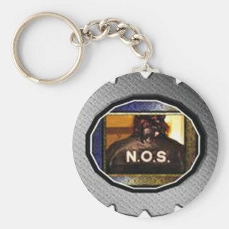 N.O.S. OFFICIELLT SYMBOL RUND NYCKELRING