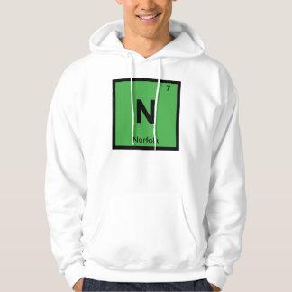 N - Stad för bord för Norfolk Virginia kemi Sweatshirt