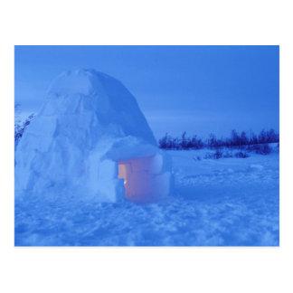 NA Kanada, Manitoba, Churchill. Arktisk igloo Vykort