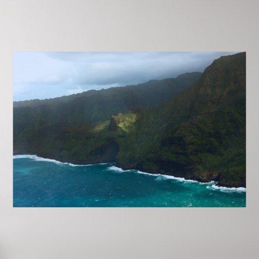 na-palikusten kauai affisch