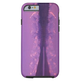 NA USA, Alaska, Denali NP, undra sjö, afton Tough iPhone 6 Fodral