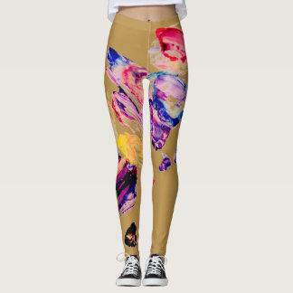 Näck målningdamasker leggings