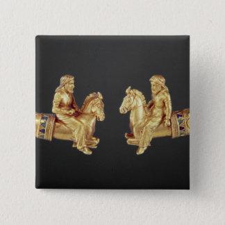 Nackering i form av Scythian skicklig ryttare Standard Kanpp Fyrkantig 5.1 Cm