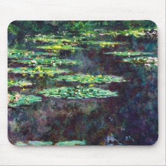 NäckrosClaude Monet coola, gammalt som är ledar-,  Musmattor