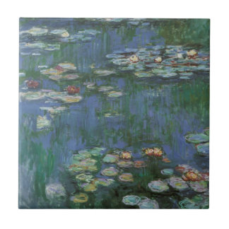 Näckrosor vid Claude Monet, vintageblommor Kakelplatta