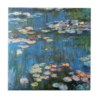 Näckrosor vid Claude Monet, vintageImpressionism Kakelplatta