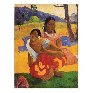 """Nafea Faa Ipoipo"" - Paul Gauguin Vykort"