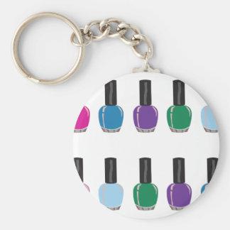 Nagel polska Keychain Rund Nyckelring