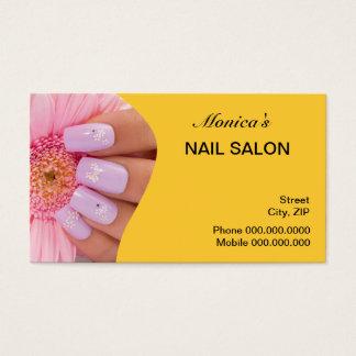 Nagelsalongvisitkorten - välj din färg visitkort
