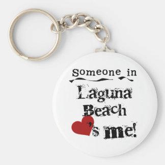Någon i den Laguna stranden Rund Nyckelring