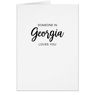 Någon i Georgia älskar dig - hälsningkortet Hälsningskort