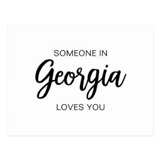 Någon i Georgia älskar dig - vykortet Vykort