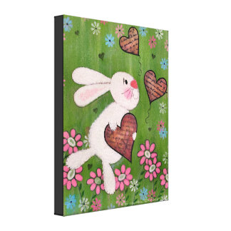 Någon kanin älskar dig - för ungeväggen för påsken canvastryck