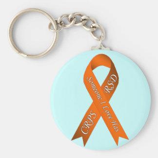 Någon som jag älskar, har CRPS/RSD Keychain Rund Nyckelring