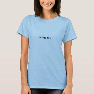 Någon text t-shirt