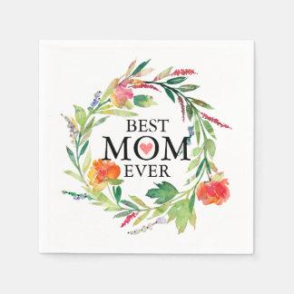 Någonsin-Färgrik blommakran för bäst mamma Servett