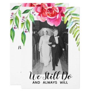 NÅGOT ÅR - bröllopsdagen & fotoet som vi stillar 12,7 X 17,8 Cm Inbjudningskort