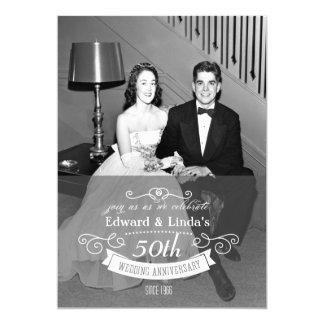 NÅGOT ÅR - bröllopsdaginbjudan 12,7 X 17,8 Cm Inbjudningskort