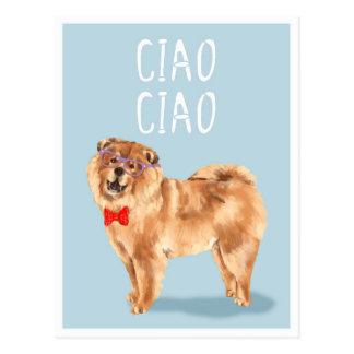 Något att säga för Ciao Ciao vitsen för hund för Vykort