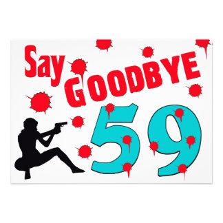 Något att säga Goodbye till 60th födelsedagfirande Individuella Inbjudningskort