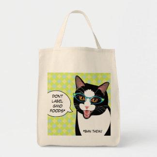 Något att säga INGEN shopping bag för katt för Tygkasse