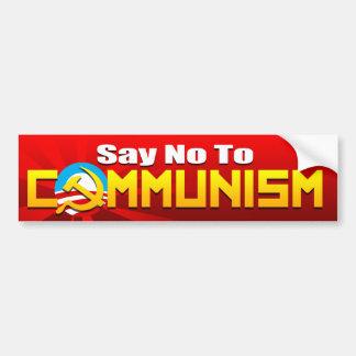 Något att säga inte till kommunism bildekal