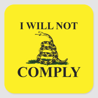 Något att säga INTE till kommunism! Fyrkantigt Klistermärke