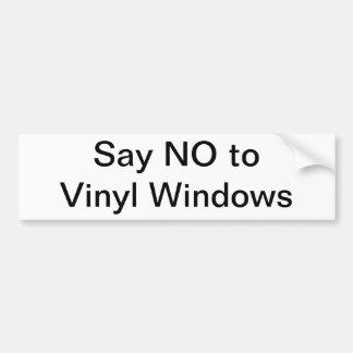 Något att säga INTE till vinylen Windows Bildekal