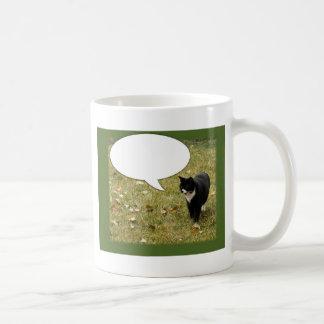 Något att säga något anpassadekattdesign kaffemugg
