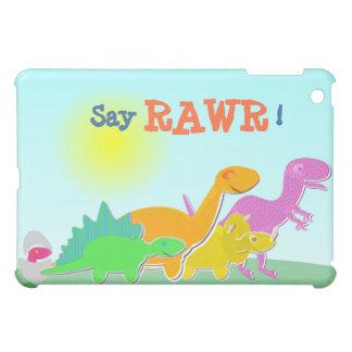 Något att säga Rawr för tecknadDino familj! iPad Mini Fodral
