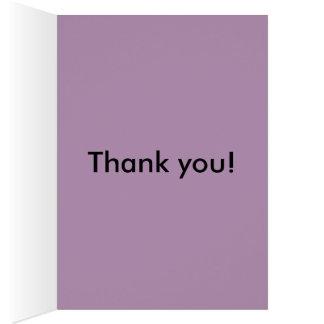 något att säga tackar dig med blommor OBS kort