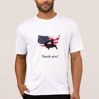 Något att sägatack till våra soldater! tröja