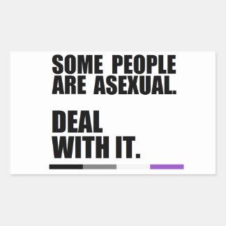 Något folk är asexual. Avtal med det! Klistermärke